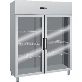 Armadio Frigorifero 2 Ante.Armadio Refrigerato Ventilato 2 Porte In Vetro Temp 2 8 C 1400 Lt
