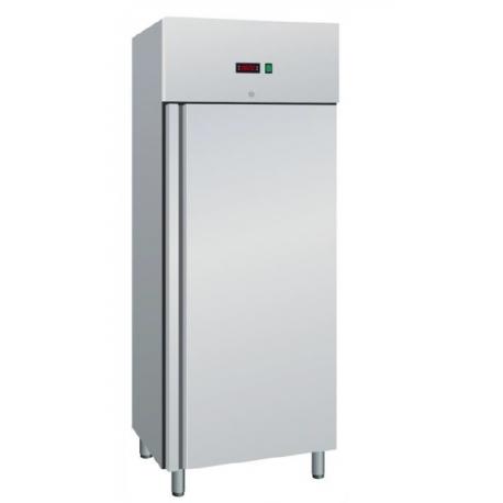 armadio refrigerato snack statico 1 porta in acciaio 0/+8°c cap.400 lt