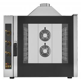 FORNO ELETTRONICO GAS A CONVEZIONE CON VAPORE 6 TEGLIE 600x400mm