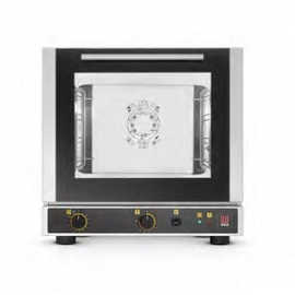 FORNO ELETTRICO VENTILATO A CONVEZIONE CON UMIDIFICAZIONE 4 TEGLIE 429x325mm (APERTURA LATERALE)
