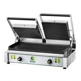 Piastra cottura in ghisa 3400W - 2 sup. infe. liscie