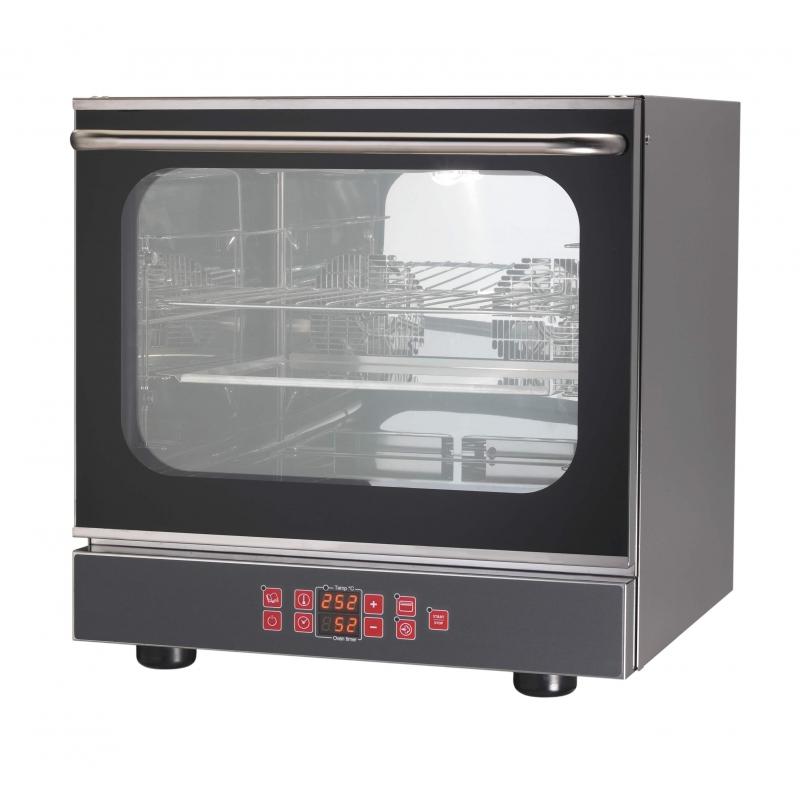 Forno elettrico pasticceria convezione con grill 4 teglie 2 ventole porta ribalta in acciaio inox - Forno elettrico con microonde integrato ...