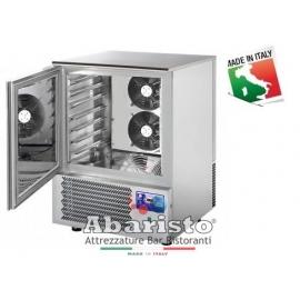 ABBATTITORE DI TEMPERATURA cap.7 teglie GN1/1-EU60/40 in acciaio inox  (+70°/+3°C +70°C/-18°C)  -PRODOTTO ITALIANO-