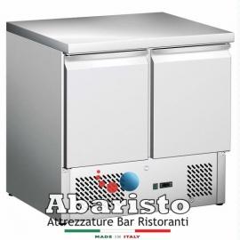 SALADETTE REFRIGERATA BT statica 2 porte interamente in acciaio inox AISI304 temp. -12/-18°C cap. 250 lt.