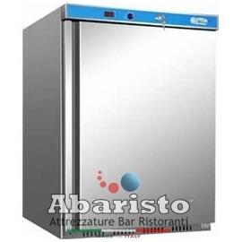 ARMADIO REFRIGERATO statico 1 porta con struttura esterna in acciaio inox temp.+2/+8°C cap.130 lt.