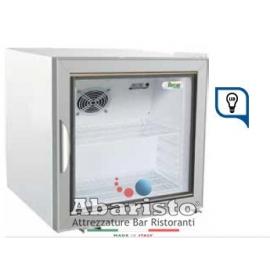 ARMADIETTO SNACK  REFRIGERATO statico 1 porta a vetro con struttura esterna in lamiera verniciata temp.+2/+8°C cap.37 lt.