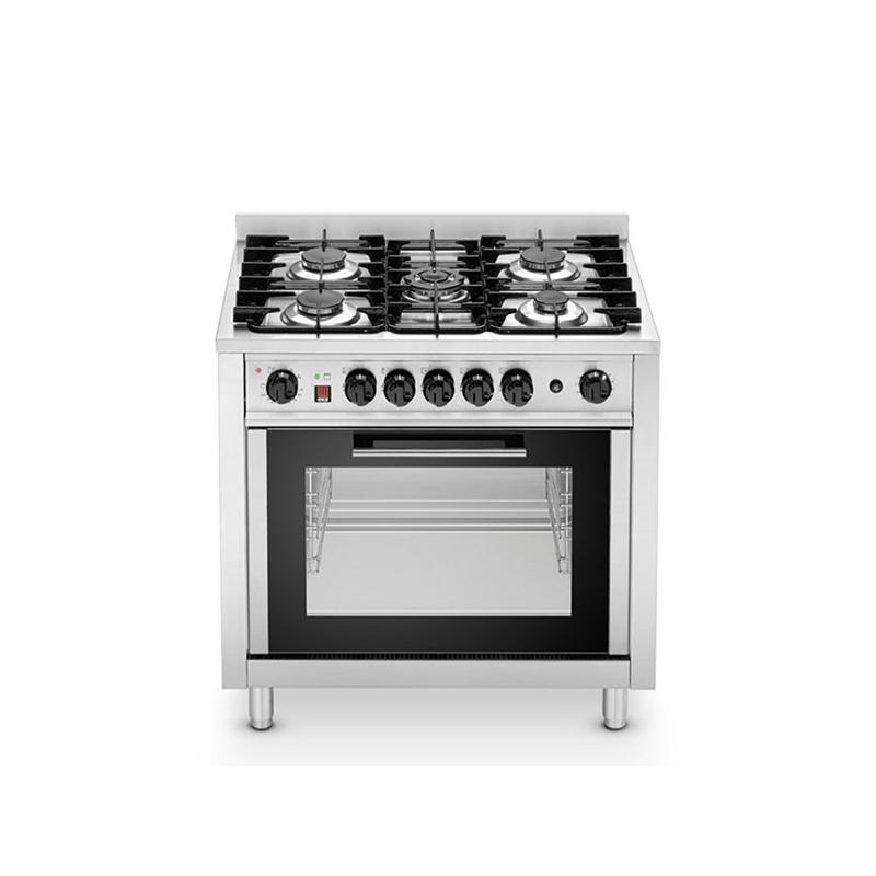 Cucina 5 fuochi con forno 4 teglie gn1 1 elettrico 2 9kw a - Cucina induzione con forno ...