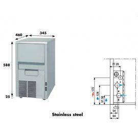 Fabbricatore ghiaccio a spruzzo KL20 - 22 kg/24h acqua