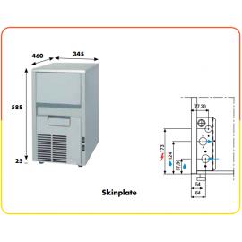 Fabbricatore ghiaccio a spruzzo KL18 - 22 kg/24h acqua