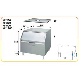 Contenitore ghiaccio + appoggio da 150 kg per serie KF e KP