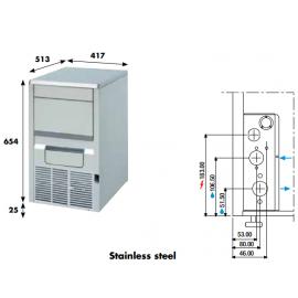 Fabbricatore ghiaccio a palette KP20 - 22 kg/24h ad acqua