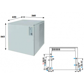 Fabbricatore ghiaccio a palette KVB150 - 140 kg/24h ad aria
