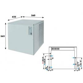Fabbricatore ghiaccio a palette KVB150 - 145 kg/24h ad acqua