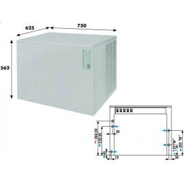 Fabbricatore ghiaccio a palette KVB190 - 195 kg/24h ad aria