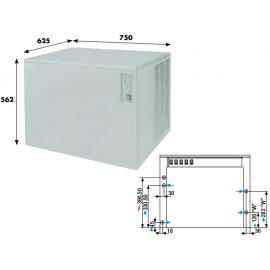 Fabbricatore ghiaccio a palette KVB290 - 295 kg/24h ad acqua