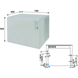Fabbricatore ghiaccio a palette KVB290 - 290 kg/24h ad aria