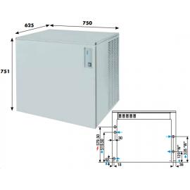 Fabbricatore ghiaccio a palette KVB400 - 395 kg/24h ad acqua