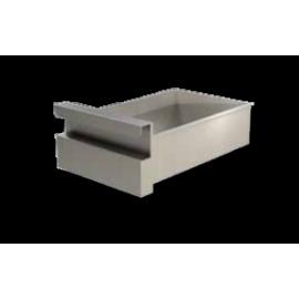 PROF.60 cm: cassetto singolo (in acciaio AISI430)