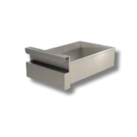PROF.70 cm: cassetto singolo tutto in acciaio inox (in acciaio AISI430)