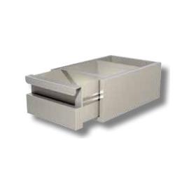 CASSETTO BATTIFONDI PER TAVOLI PROF. 60 interamente in acciaio inox AISI304