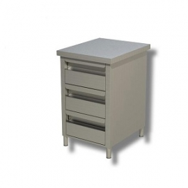 cassettiera 3 cassetti s/alz. 50x60
