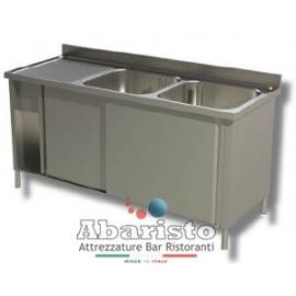 lavatoio armadiato 2 vasche sgocc.dx L.1400