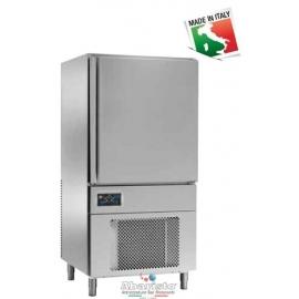 ABBATTITORE DI TEMPERATURA cap.10 teglie GN1/1-EU60/40 in acciaio inox 18/10 AISI304 +90°/+3°C +90°C/-18°C  -PRODOTTO ITALIANO-