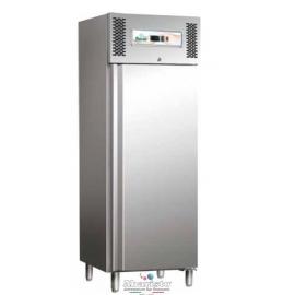 ARMADIO FRIGORIFERO CONGELATORE ventilato 1 porta interamente in acciaio inox 18/10 AISI304 temp.-18/-22°C cap.650 lt.