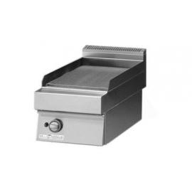 FRY TOP ELETTRICO PIASTRA LISCIA PIANA interamente in acciaio inox AISI304 con foro di scarico piastra