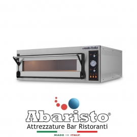FORNO ELETTRICO PER PIZZA/PANE TR4 1 CAMERA interamente in acciaio inox