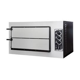 FORNO ELETTRICO PER PIZZA SMALL BASIC 2/50 2 CAMERE interamente in acciaio inox