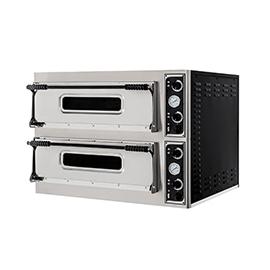 FORNO ELETTRICO PER PIZZA BASIC 66 2 CAMERE interamente in acciaio inox