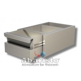 CASSETTO BATTIFONDI PROF. 60 interamente in acciaio inox AISI304