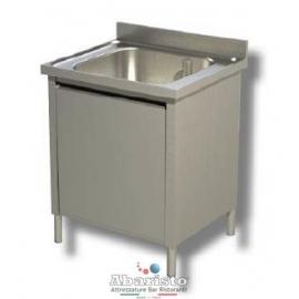 Lavatoio armadiato 1 vasca s/sgocc. c/ripiano 60x60 cm