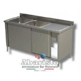 lavatoio armadiato 2 vasche sgocc.dx L.1800