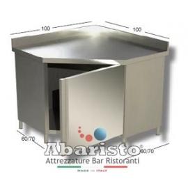 PROF.70: tavolo armadiato ad angolo c/alzatina