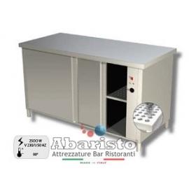 PROF.70: tavolo armadiato caldo ante scorrevoli s/alz. alim.230v ass.2500w