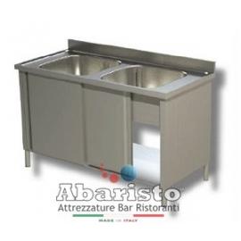 lavatoio aperto 2 vasche s_sgocciolatoio L.1000