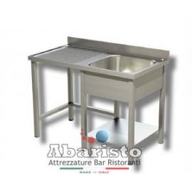 PROF.60: lavatoio sbalzo aperto 1 vasca sgocc.d