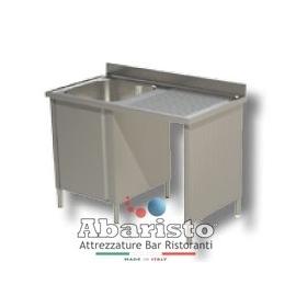lavatoio armadiato 1 vasca con vano pattumiera sgocc.dx L.1200