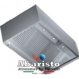 CAPPA CUBICA PARETE PROF. 110 interamente in acciaio inox