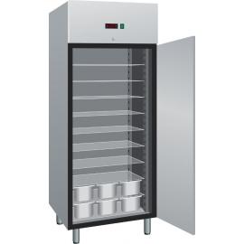 ARMADIO FRIGORIFERO CONGELATORE (GELATERIA) ventilato 1 porta interamente in acciaio inox temp.-18/-22°C cap.800 lt.
