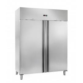ARMADIO REFRIGERATO BT statico 2 porte interamente in acciaio inox temp.-18/-22°C cap.1200 lt.