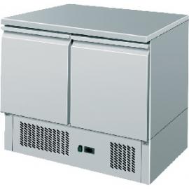 SALADETTE REFRIGERATA TN statica 2 porte interamente in acciaio inox temp. +2/+8°C cap.300 lt.