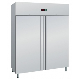 ARMADIO REFRIGERATO ventilato 2 porte interamente in acciaio inox temp.-2/+8°C cap.1400 lt.