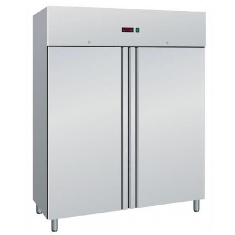 ARMADIO FRIGORIFERO ventilato 2 porte interamente in acciaio inox temp.-2/+8°C cap.1400 lt.