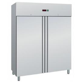 ARMADIO REFRIGERATO SNACK ventilato 2 porte interamente in acciaio inox temp.-2/+8°C cap.1400 lt.