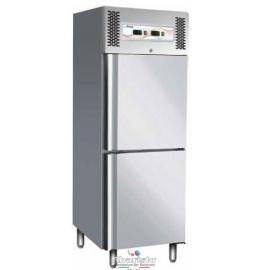 ARMADIO REFRIGERATO ventilato 2 porte 2 temperature (-2/+8°C--18°/-22°) interamente in acciaio inox 18/10 AISI304  cap.474 lt.