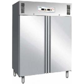 ARMADIO REFRIGERATO DOPPIA TEMPERATURA ventilato 2 porte interamente in acciaio inox AISI 304 cap.1200 lt.