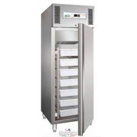 ARMADIO REFRIGERATO PESCE statico 1 porta interamente in acciaio inox 18/10 AISI304 temp.+2/+8°C cap.650 lt.